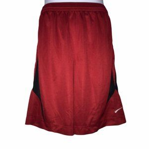 Nike Basketball Red Athletic Athleisure Shorts L